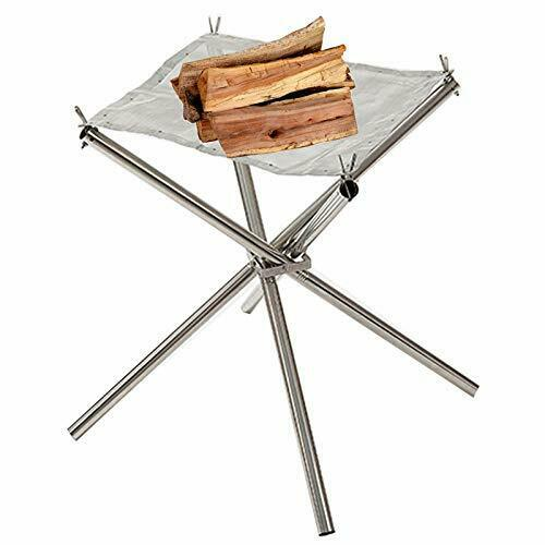 Portable Fire Pit Outdoor Stainless Steel Collapsible Mesh Fireplace 18quot;