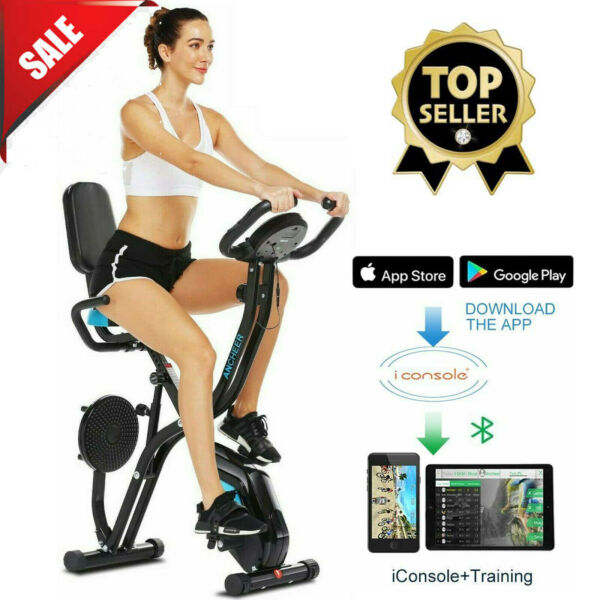 Indoor Exercise Slim Folding Bike 3 in 1 Home Stationary Magnetic Cycle Home Use $217.99