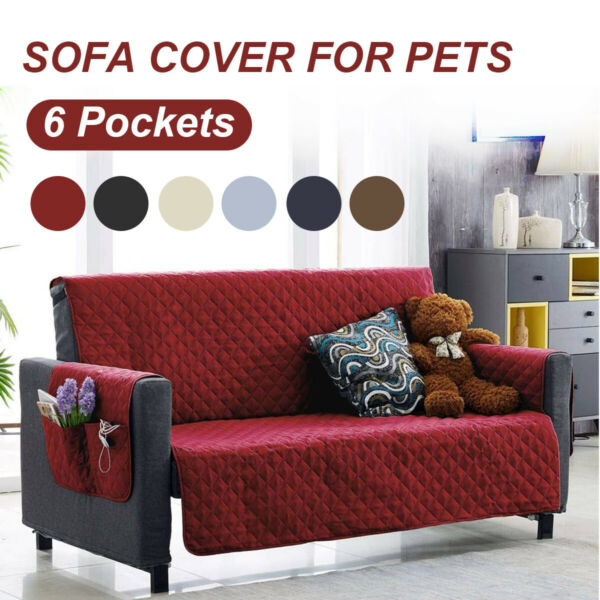 3 Seater Sofa Cover Couch Slipcover For Pet Dog Furniture Protector With T $30.60
