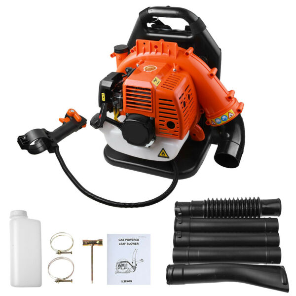 42.7CC Gas powered Backpack Leaf Blower Commercial 2 Stroke Garden Yard Tool