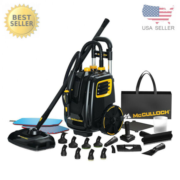 McCulloch Deluxe Canister Deep Clean Multi Floor Steam Cleaner System MC1385