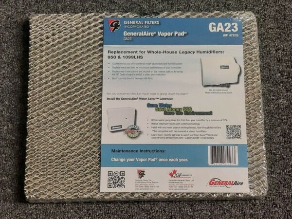 GA23 Furnace Humidifier Vapor Pad 1.25 x 14quot; x 12 Brand New Sealed in Plastic $29.74