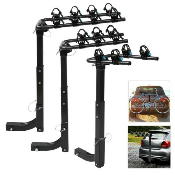New 2 3 4 Bike Rack Hitch Mount Folding Bicycle Carrier 2quot; Receiver Car SUV $64.97
