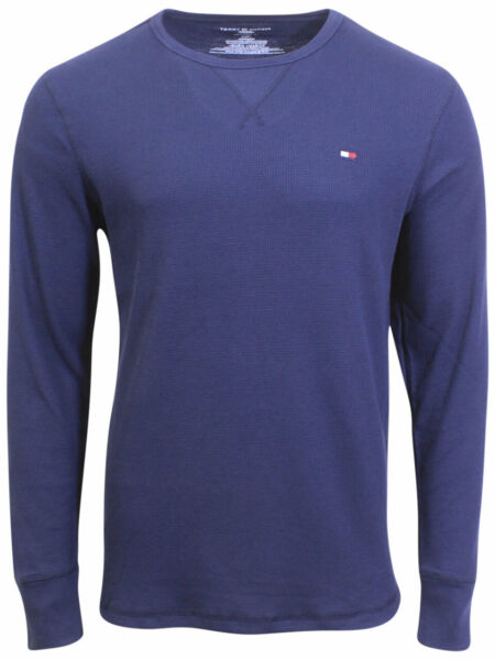 Tommy Hilfiger Men#x27;s Thermal T Shirt Long Sleeve Crew Neck $31.95