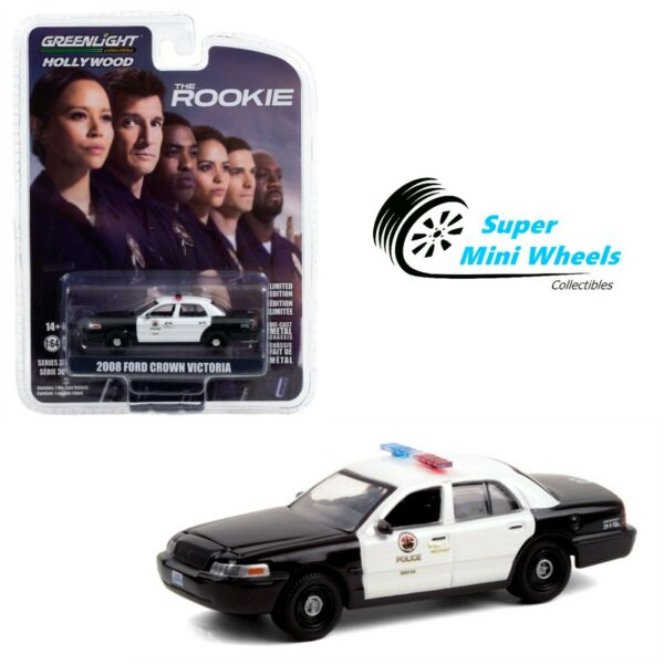 Greenlight 1:64 The Rookie 2008 Ford Crown Victoria Police Interceptor LAPD