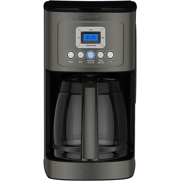 NEW Cuisinart 14 Cup Coffee Maker with Water Filtration Black Stainless