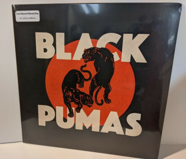 Black Pumas S T NEW Tri Color Cream Black Red Vinyl
