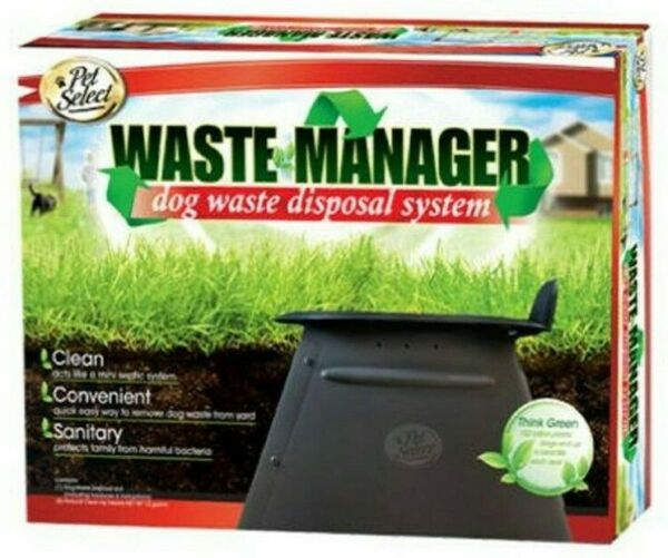 Waste Manager Dog Waste Disposal System Acts Like A Mini Septic System $26.99