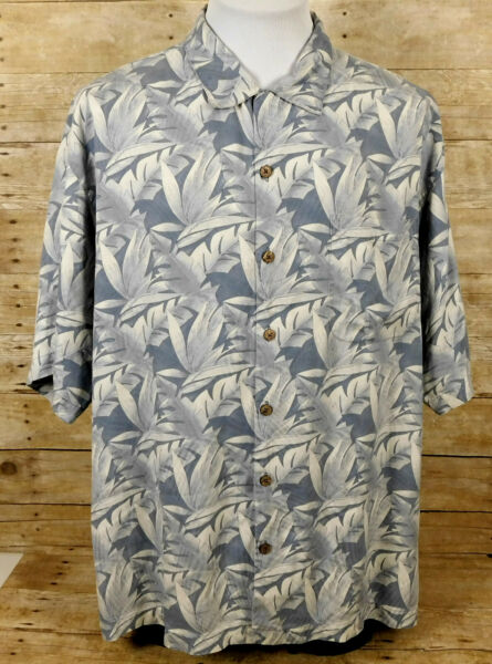 Tommy Bahama Hawaiian Shirt Mens XL Short Sleeve Silk Floral $13.99
