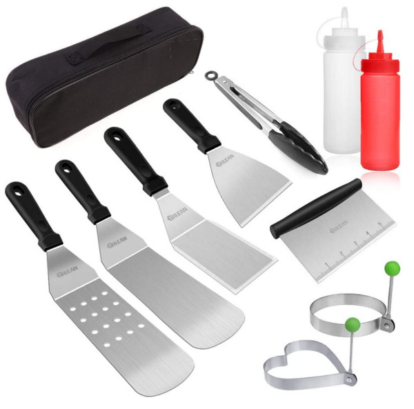 Blackstone Grill Accessories Set 10 PCS Griddle Barbecue Tools Kit Outdoor BBQ
