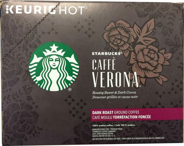 Starbucks coffee Verona Keurig K Cups 72 Count AB condition FREE SHIPPING