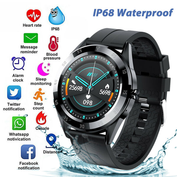 Waterproof Bluetooth Smart Watch Phone Mate Heart Rate Tracker For iOS Android $19.99