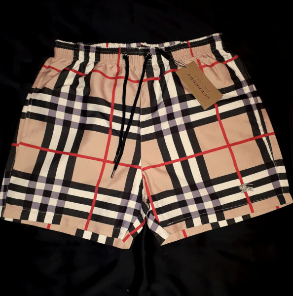 Burberry men's swimming sports shorts with logo SIZE 2XL $65.00