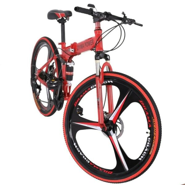 26quot; Folding Mountain Bike Shimano 21 Speed Bicycle Full suspension MTB School $203.69