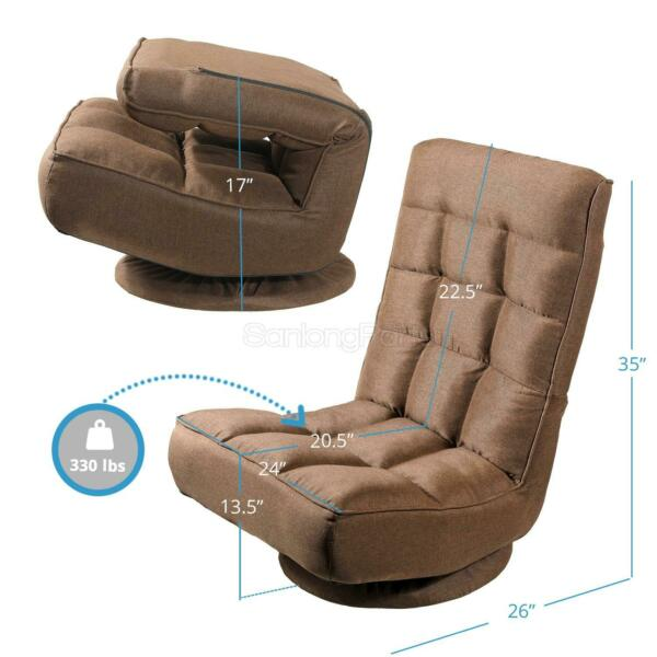 Floor Chair FabricIron Pipe Seat 360 Degree Swivel Gaming Chair for Living Room