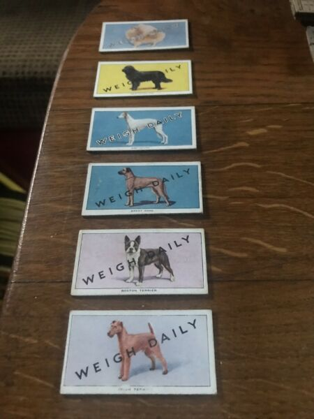 BRITISH AUTOMATIC DOGS 1ST 2ND SERIES WITH WEIGH DAILY 7 Cards Look GBP 3.99