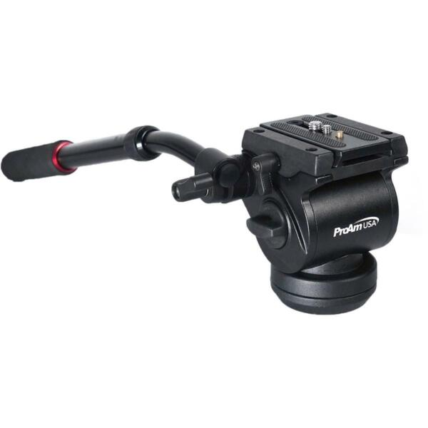 ProAm Professional Fluid Tripod Head V2 1 4quot; and 3 8quot; Camera Screw #PROAMTH3V2