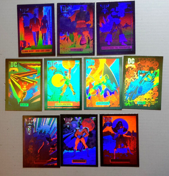 1991 DC Comic Cosmic Hall Fame Trading Card Hologram Set of #1 10 or Your Choice