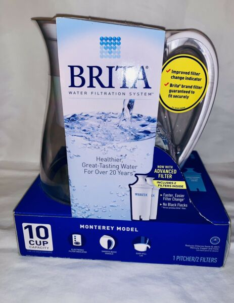 Brita Water Filtration System 10 Cup Monterey Model With 2 Filters Included