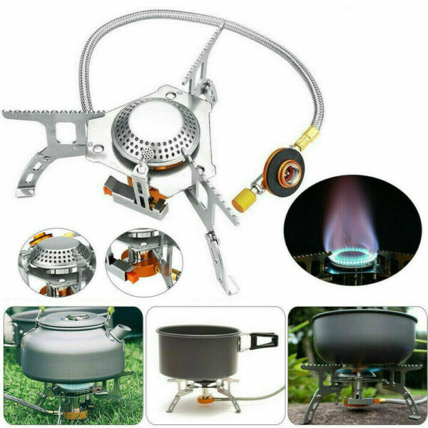 3500W Foldable Camping Windproof Mini Gas Stove Outdoor Cooking Gas Split Burner