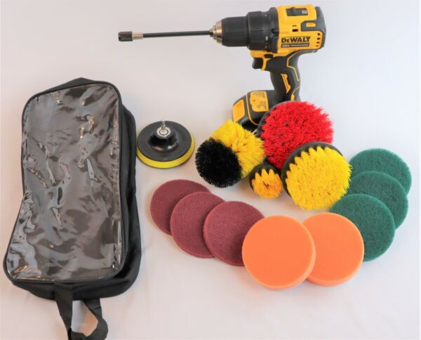 Ultimate 14 Piece Drill Scrub Brush Multi Purpose Deep Cleaning Kit