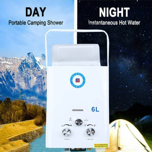 6L 12KW LPG Propane Gas Tankless Outdoor Home Instant Hot Water Heater Boiler $67.65