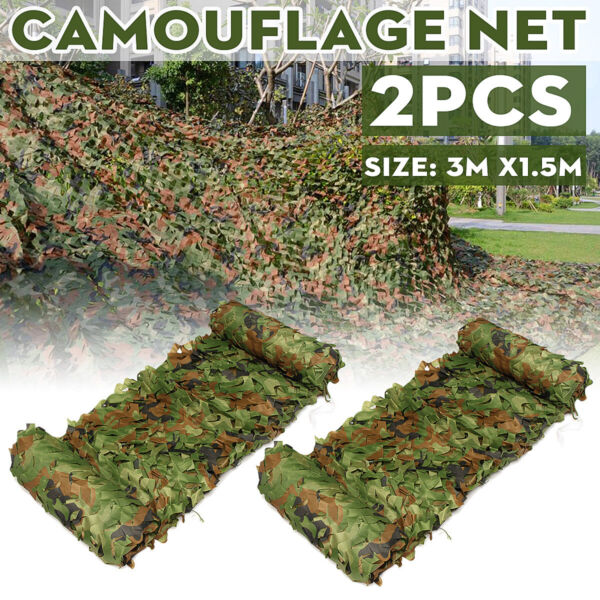 10ft Camo Netting Woodland Military Camouflage Mesh Netting Fits Camping Hunting