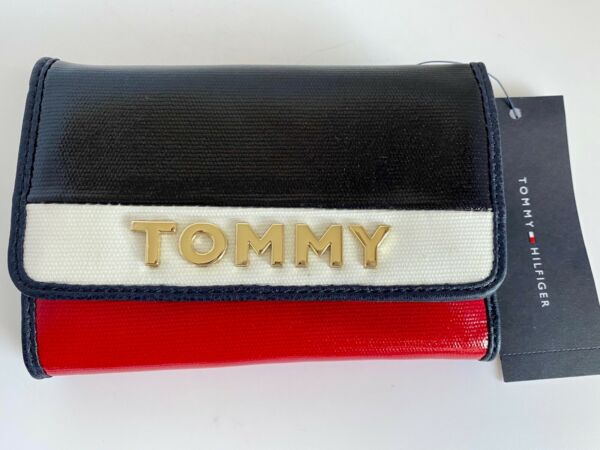 Tommy Hilfiger Wallet Navy blue Red White Tommy logo New $32.99