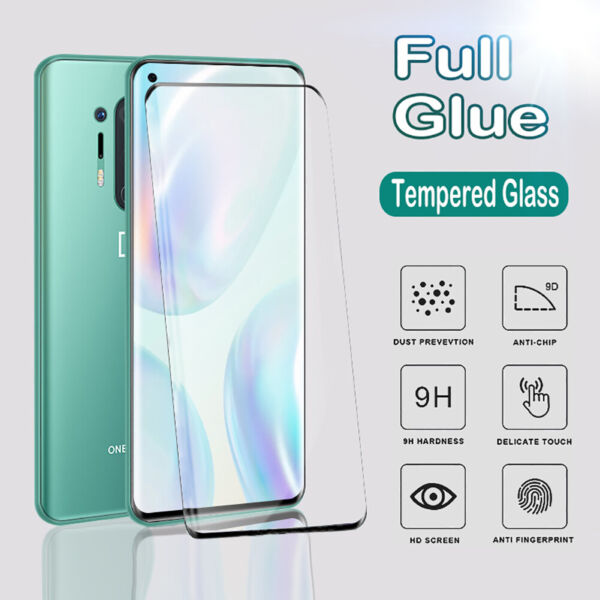For OnePlus 7 8T 9 Pro 3D Full Cover Tempered Glass Curved Screen Protector 9H