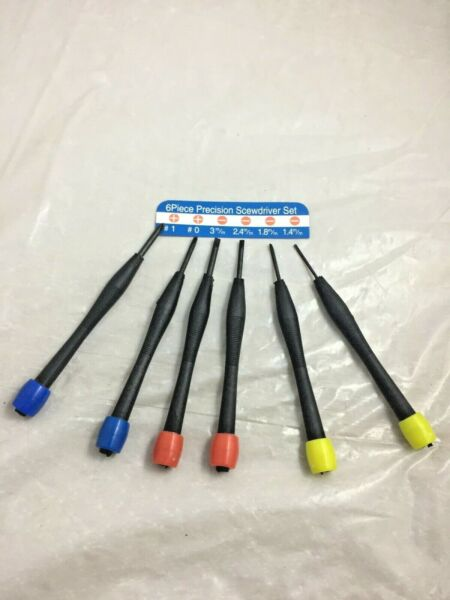 6pc screwdriver small Tools Accessory size pocket size set 1.4mm to 3mm
