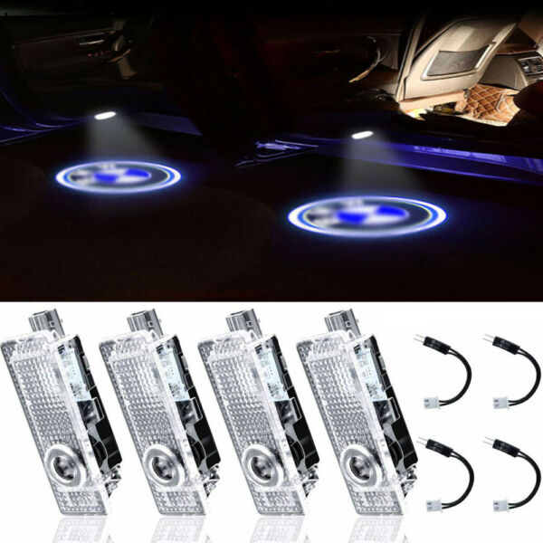 4pc Car Door LED Light Logo Projector Welcome Symbol Emblem Ghost Shadow for BMW
