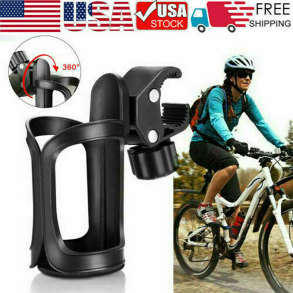 360° Portable Bike Bracket Scooter Bicycle Water Bottle Drink Cup Holder Mount $5.99