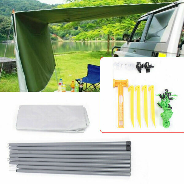2.8*1.8m Outdoor Sunshade Canopy Car Side Tent Awning Rooftop SUV Travel Shelter $49.00