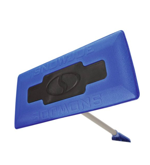 New Snow Joe Broom 2 In 1 18 Inch Foam Head Blue Ice Scraper Multiple Purpose