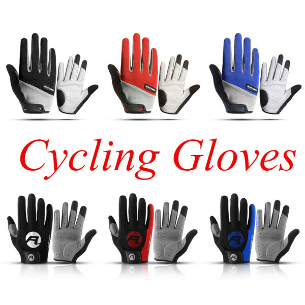 Breathable Full Finger Bike Gloves Touch Screen Cycling Road Mountain Gloves US $10.98