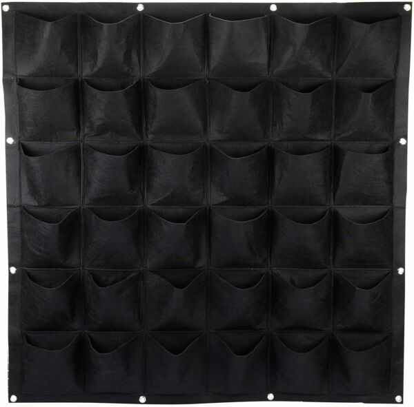Vertical Wall Hanging Planters with 36 Pockets Large Grow Bags Garden Decoration $15.59