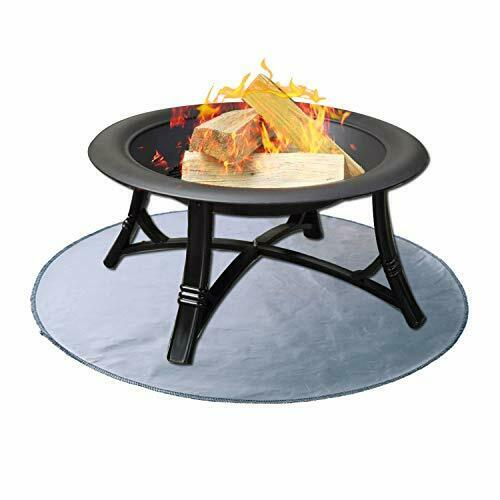 Fire Pit Mat Round Grill Mat for Ground Patio Deck Lawn Outdoor 36''x36''