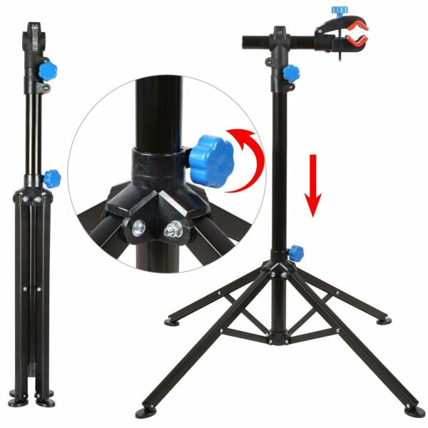 Portable Bike Repair Stand Folding Bicycle Adjustable Maintanance Workstand $44.99