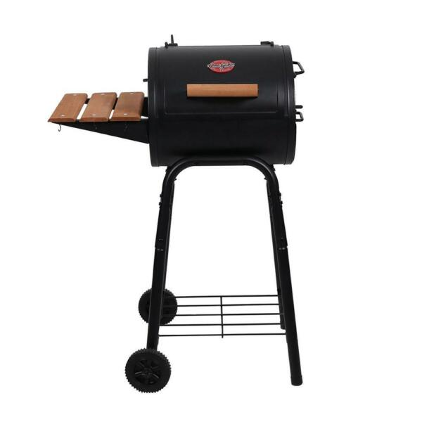 Char Griller Patio Pro Charcoal Grill Barrel Storage Rack Painted Steel Black