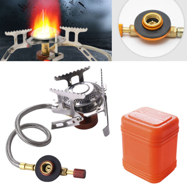 3500W Outdoor Picnic Gas Burner Portable Backpacking Camping Hiking Mini Stove *