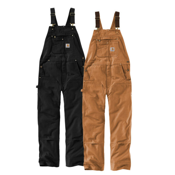Carhartt Duck Bib Overalls UNLINED R01 102776 select color and size