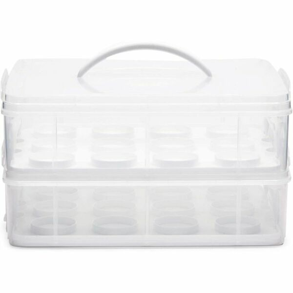 Cupcake Storage Carrier 2 Tier Holds 24 Cupcakes $30.99