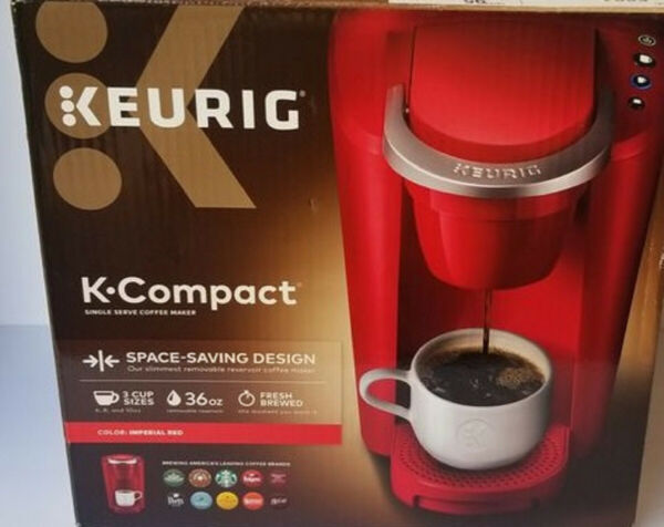 Keurig K35 Compact Single Serve Coffee Maker Imperial Red Free Shipping