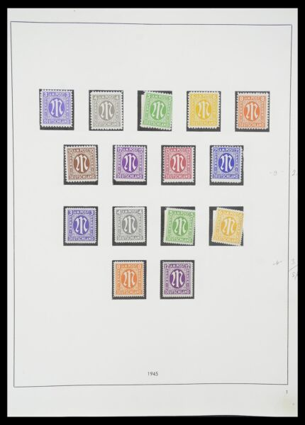 Lot 33351 Stamp collection Allied Zone 1945 1949. $4819.00