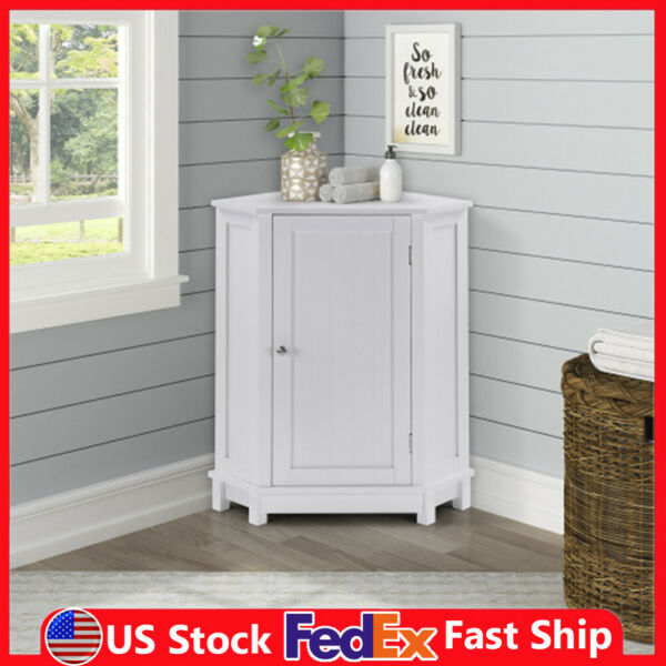 Nordic Style Corner Cabinet Side Dresser Furniture for Living Room Bathroom $67.99