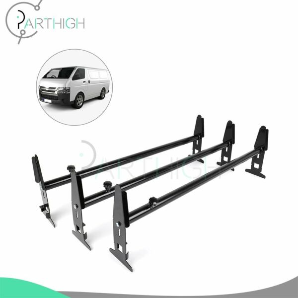 3 bar Van Roof Ladder Rack Cargo Carrier Square 3 Rail For Chevy Dodge Ford GMC $109.78