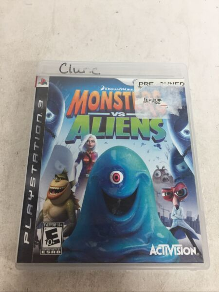 Monsters vs. Aliens Sony PlayStation 3 2009 PS3