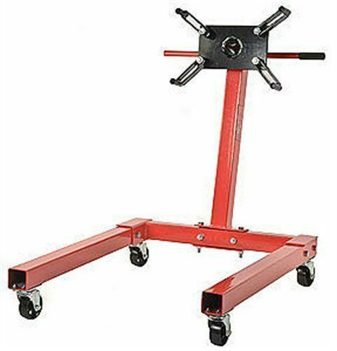 JEGS 80041 Red Engine Stand 1250 lbs Capacity 360 Degree Head Motor Stand $34.99
