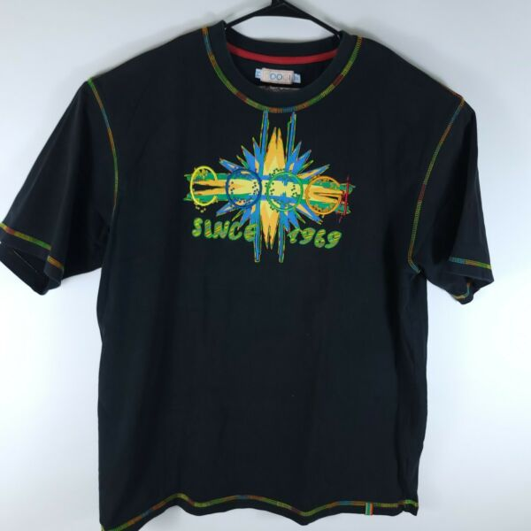 Vintage COOGI Black Embroidered T Shirt Spellout Mens Size 2XL Black Tee $28.87