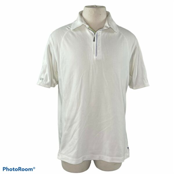 Tommy Bahama Short Sleeve Zipper Polo Shirt Large $15.00
